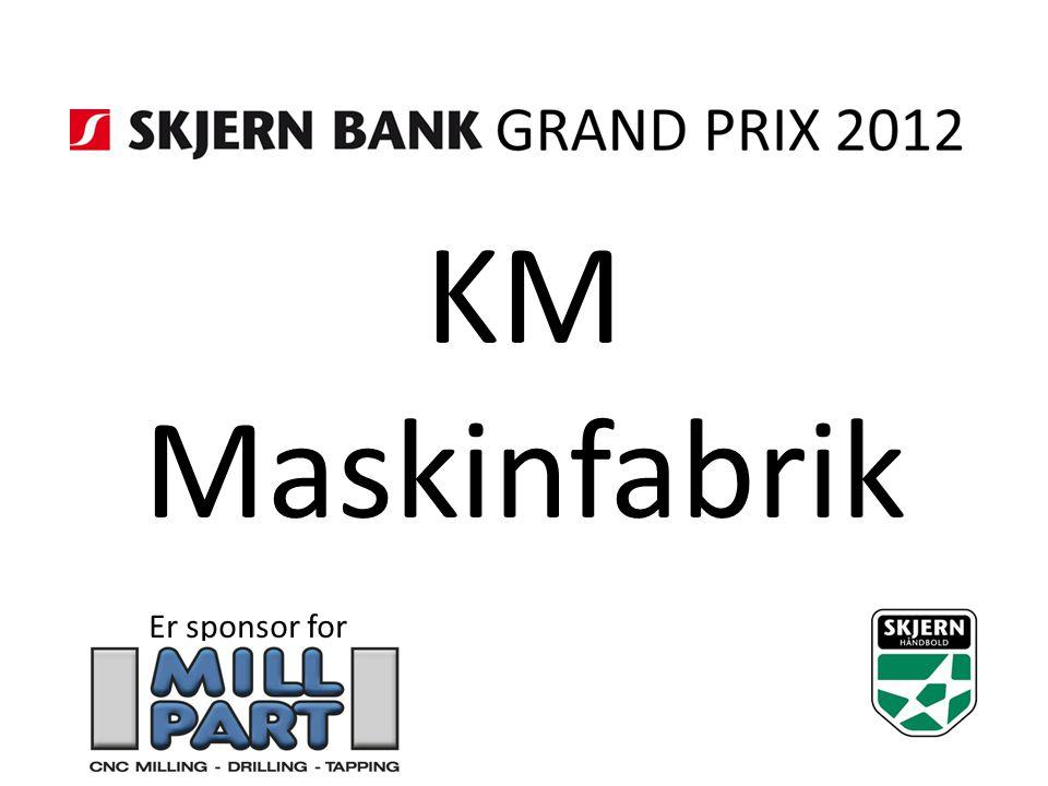 KM Maskinfabrik Er sponsor for