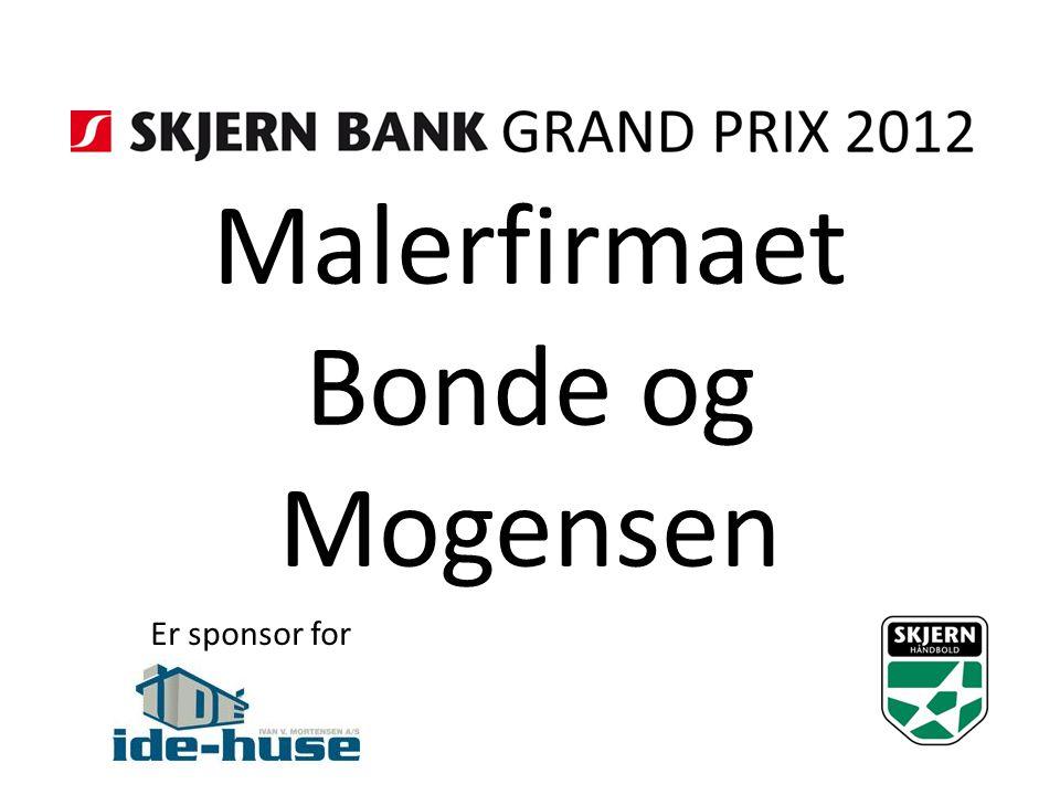 Malerfirmaet Bonde og Mogensen Er sponsor for