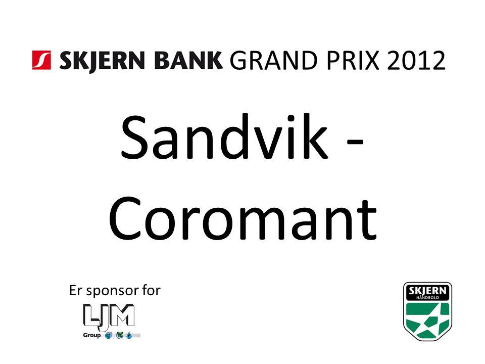 Sandvik - Coromant Er sponsor for