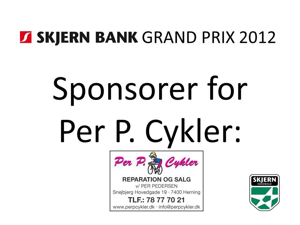 Sponsorer for Per P. Cykler: