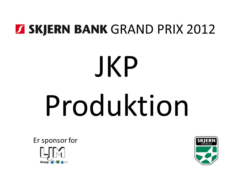 JKP Produktion Er sponsor for