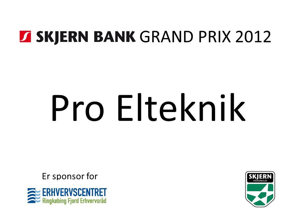 Pro Elteknik Er sponsor for