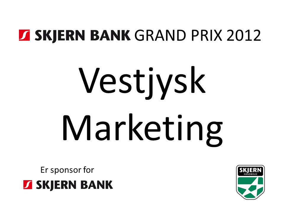 Vestjysk Marketing Er sponsor for
