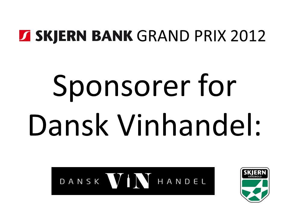 Sponsorer for Dansk Vinhandel: