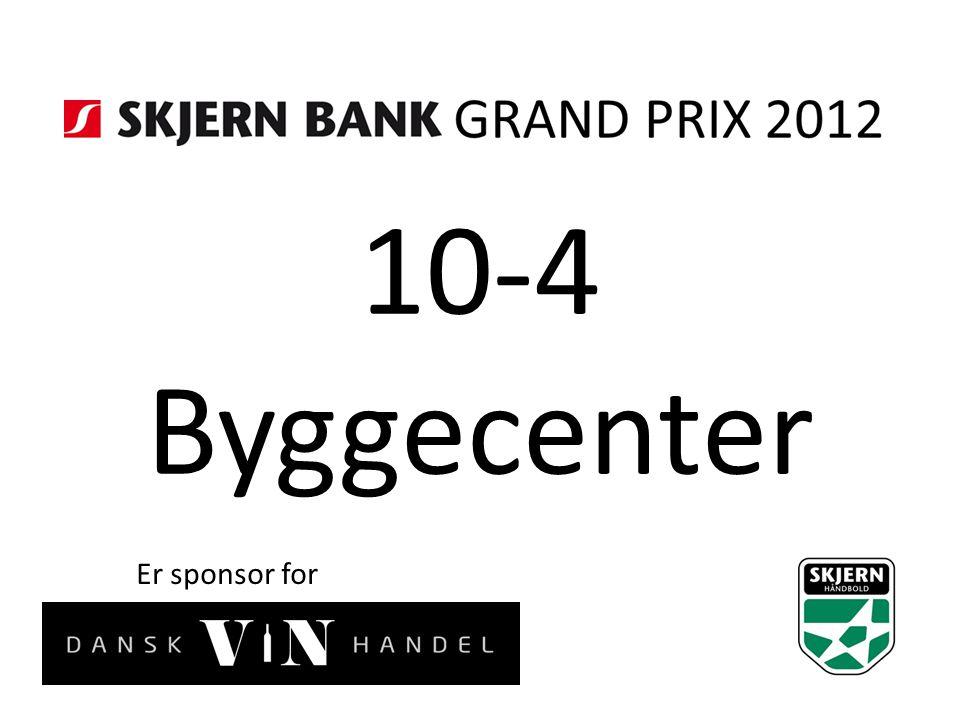 10-4 Byggecenter Er sponsor for