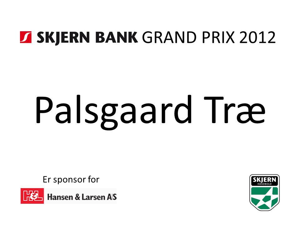 Palsgaard Træ Er sponsor for