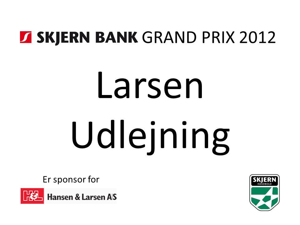 Larsen Udlejning Er sponsor for