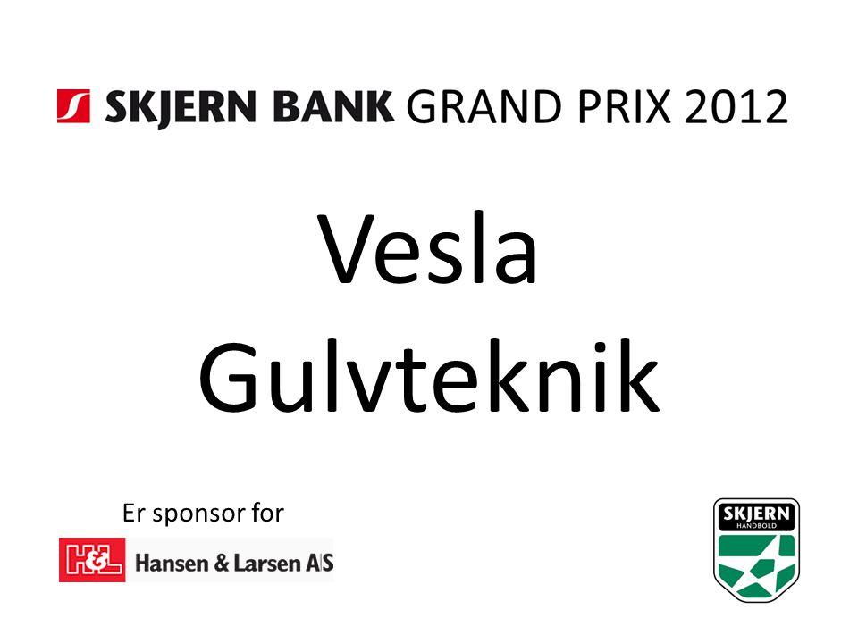 Vesla Gulvteknik Er sponsor for