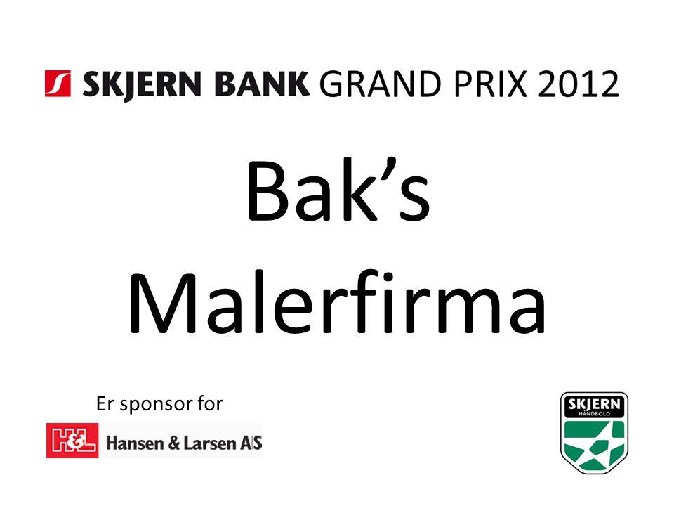 Bak's Malerfirma Er sponsor for