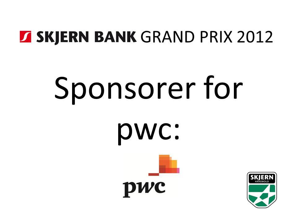 Sponsorer for pwc: