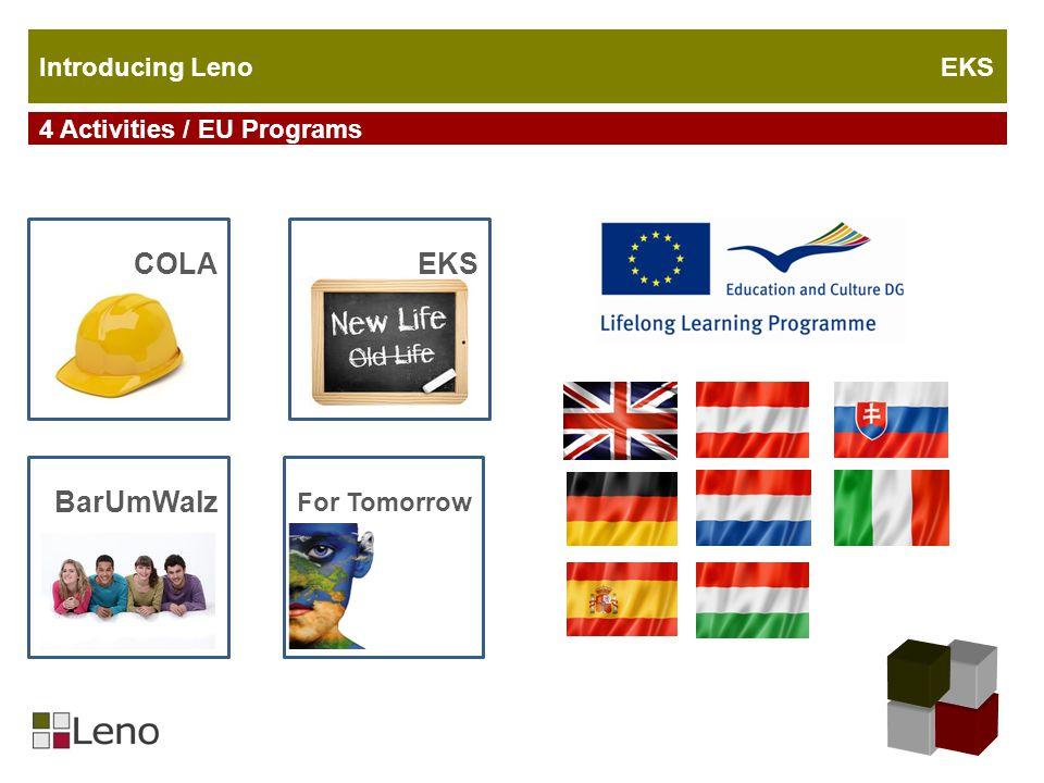 COLAEKS For Tomorrow BarUmWalz 4 Activities / EU Programs Introducing Leno EKS