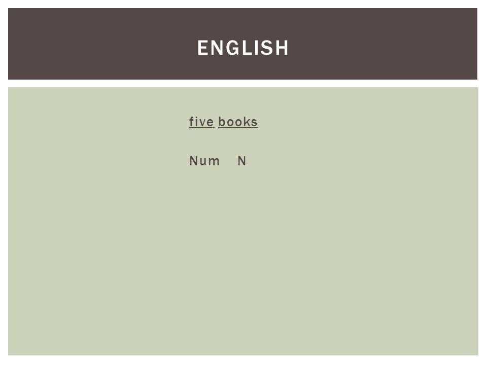 five books Num N ENGLISH