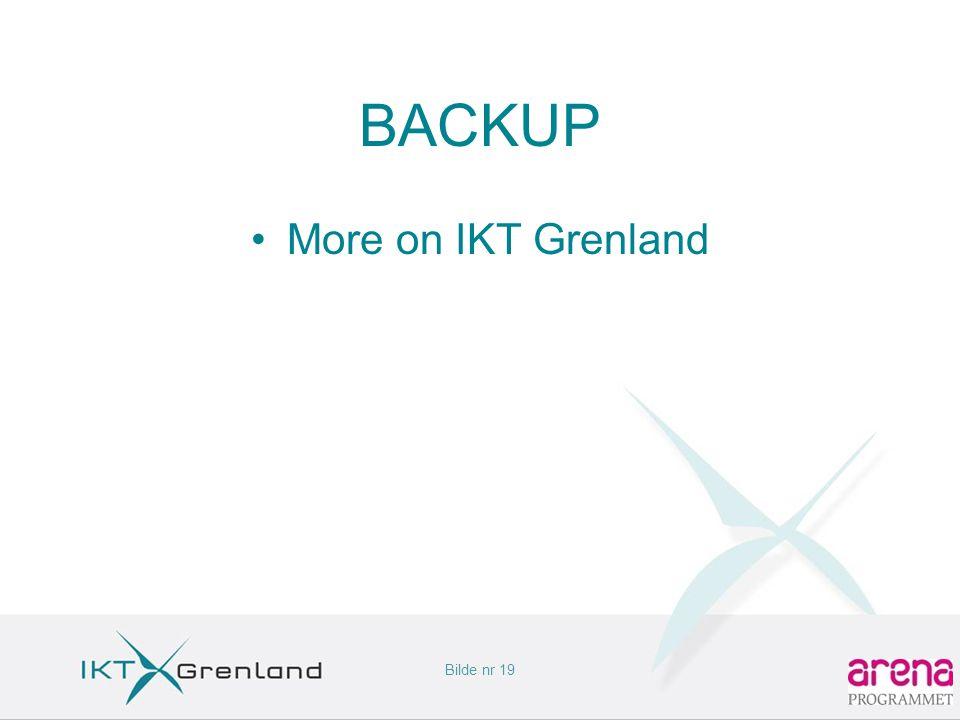 Bilde nr 19 BACKUP •More on IKT Grenland