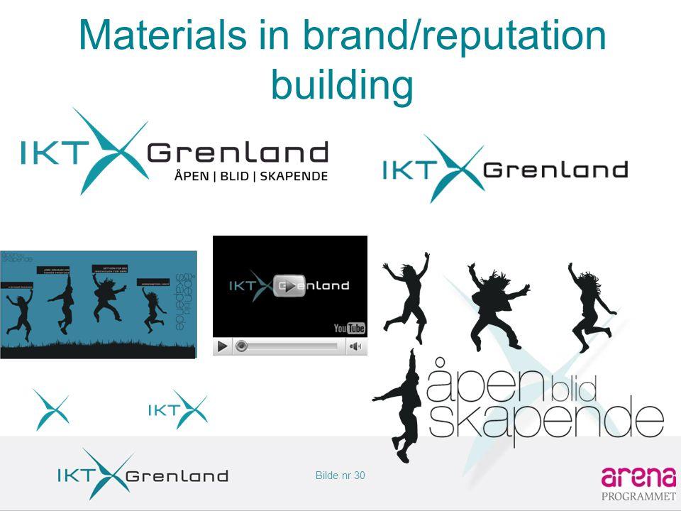 Bilde nr 30 Materials in brand/reputation building
