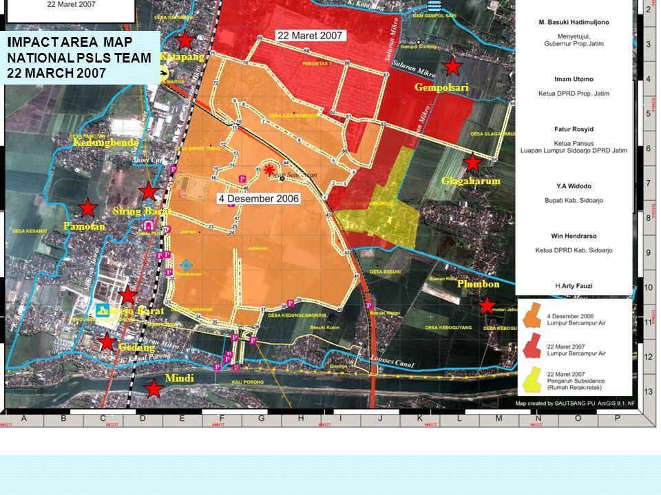 Jatirejo Barat Ketapang Glagaharum Mindi Siring Barat Plumbon Gedang Pamotan Kedungbendo Gempolsari I MPACT AREA MAP NATIONAL PSLS TEAM 22 MARCH 2007