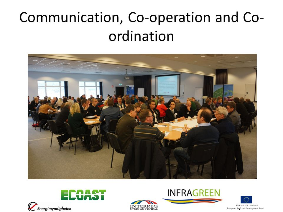 EUROPEISKA UNIONEN European Regional Development Fund Communication, Co-operation and Co- ordination