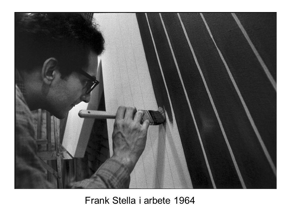Frank Stella i arbete 1964