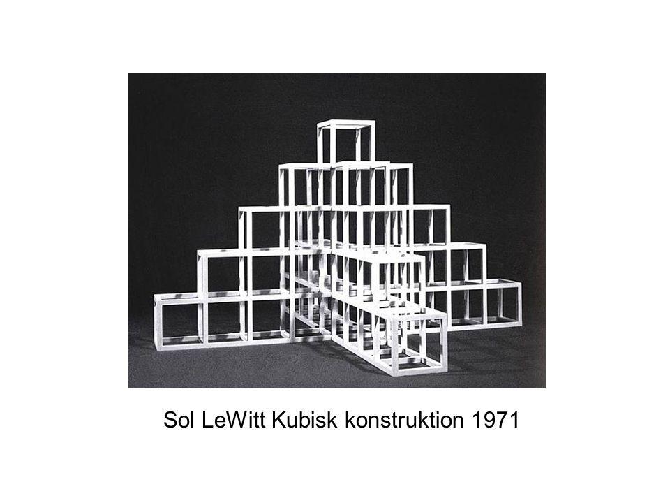 Sol LeWitt Kubisk konstruktion 1971