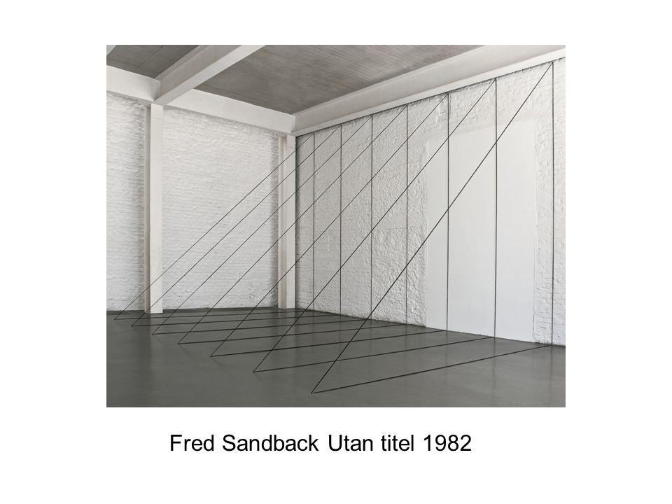 Fred Sandback Utan titel 1982