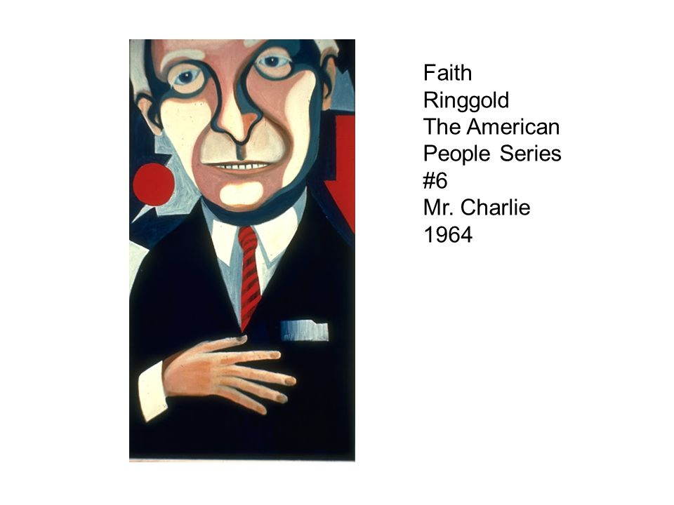 Faith Ringgold The American People Series #6 Mr. Charlie 1964