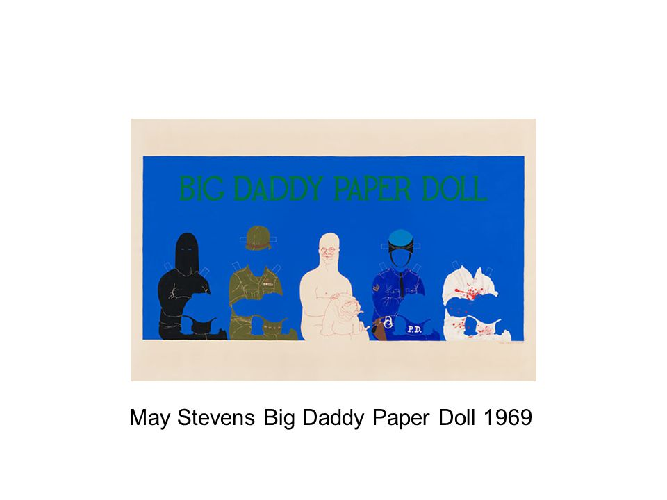 May Stevens Big Daddy Paper Doll 1969