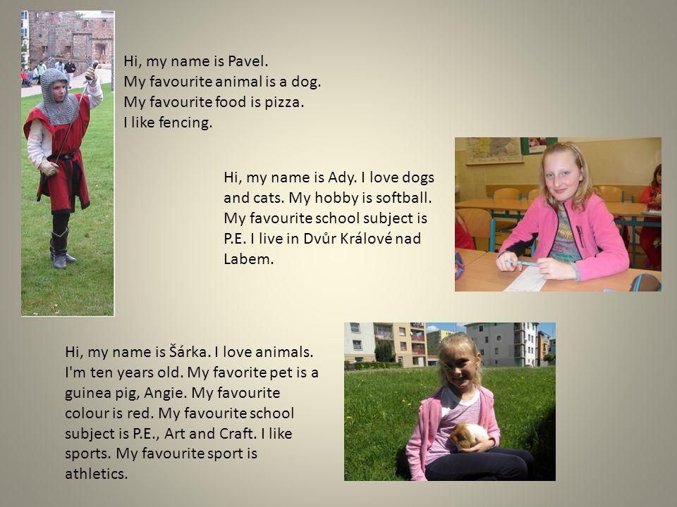 Hi.My name is Nikola Horáčková. My favourite subject is P.E.