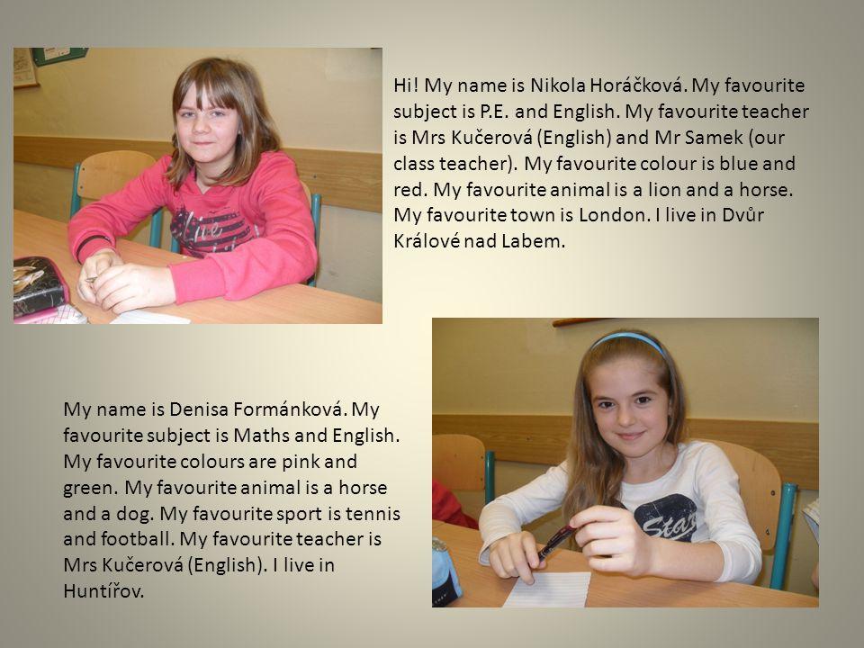 My name is Katka Škropková.I'm 12. I like computer games.