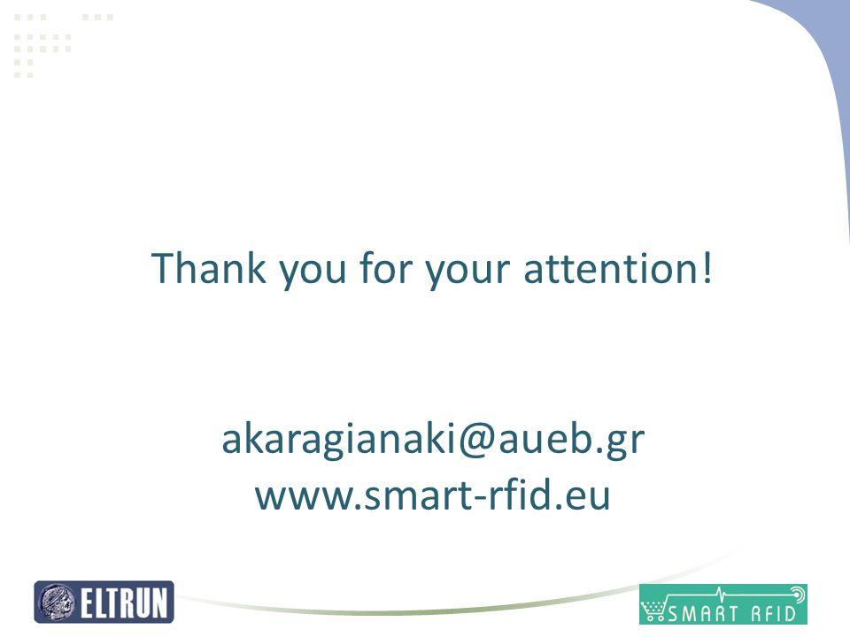 14 Thank you for your attention! akaragianaki@aueb.gr www.smart-rfid.eu
