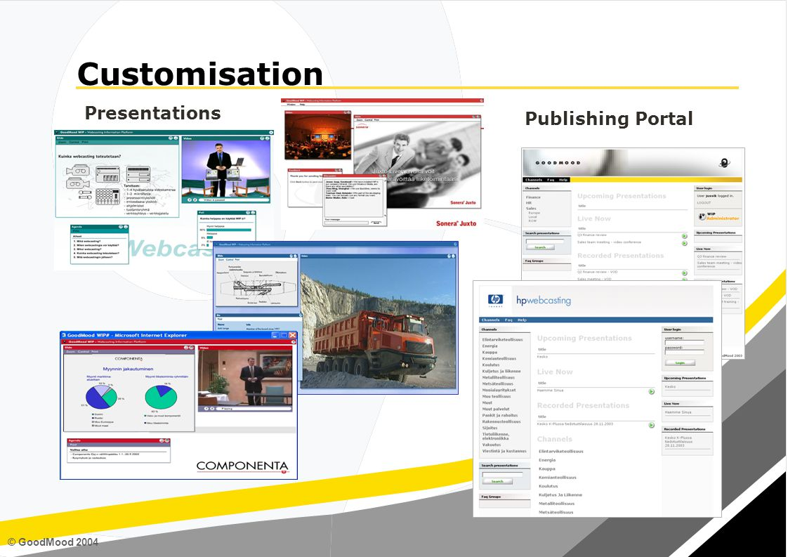 © GoodMood 2004 Presentations Publishing Portal Customisation