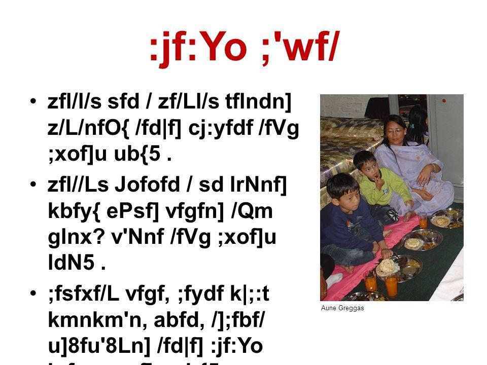 :jf:Yo ; wf/ •zfl/l/s sfd / zf/Ll/s tflndn] z/L/nfO{ /fd|f] cj:yfdf /fVg ;xof]u ub{5.