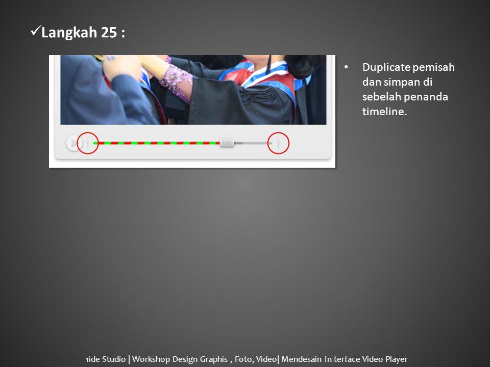  Langkah 25 : • Duplicate pemisah dan simpan di sebelah penanda timeline.