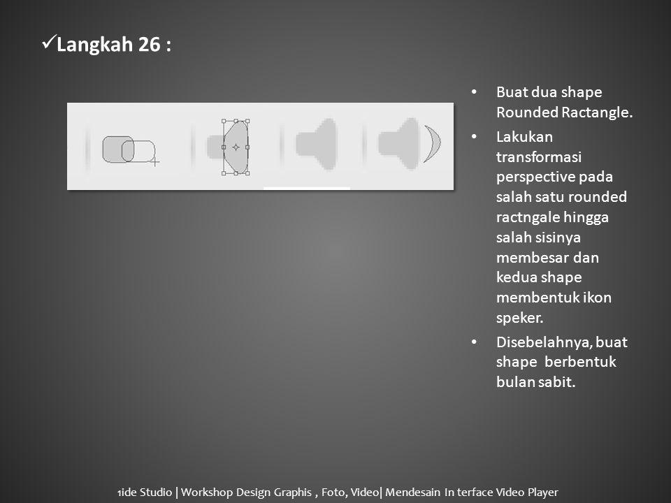  Langkah 26 : • Buat dua shape Rounded Ractangle.