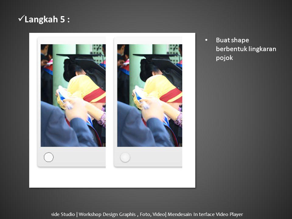  Langkah 6 : • Layer Style – Drop Shadow pada lingkaran.