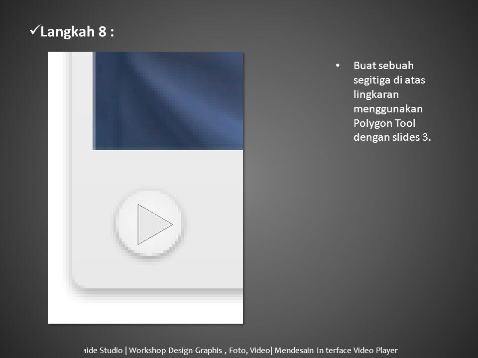  Langkah 8 : • Buat sebuah segitiga di atas lingkaran menggunakan Polygon Tool dengan slides 3.