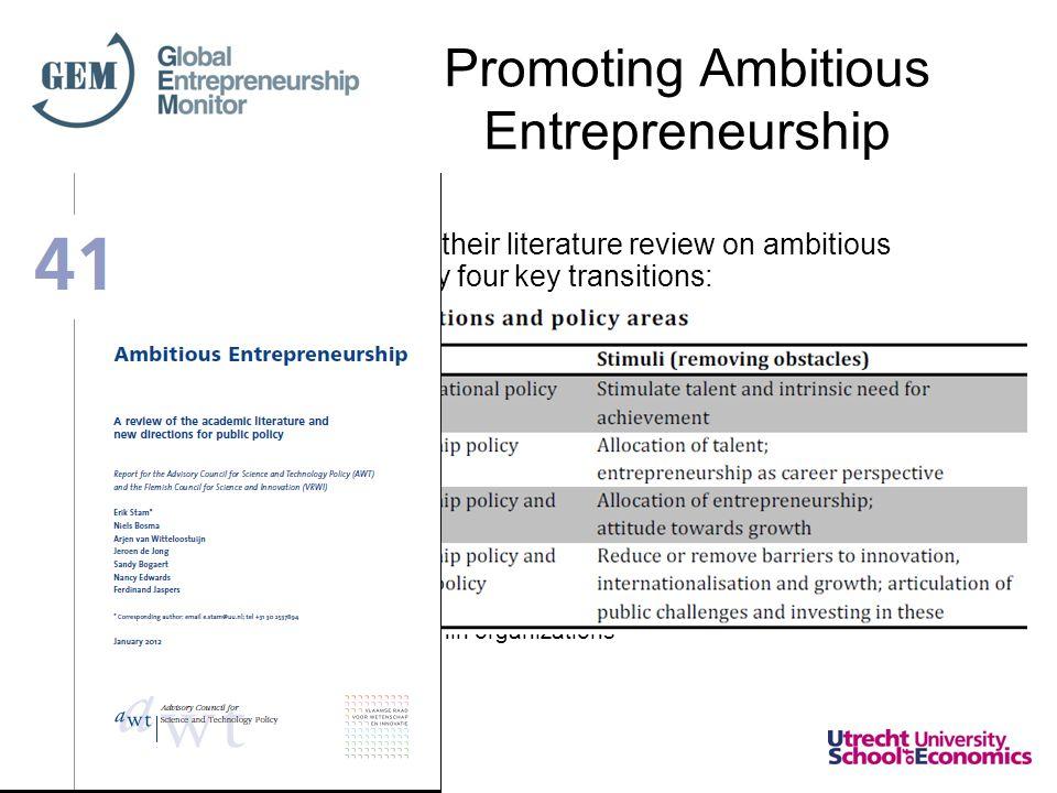 Promoting Ambitious Entrepreneurship Stam et al.