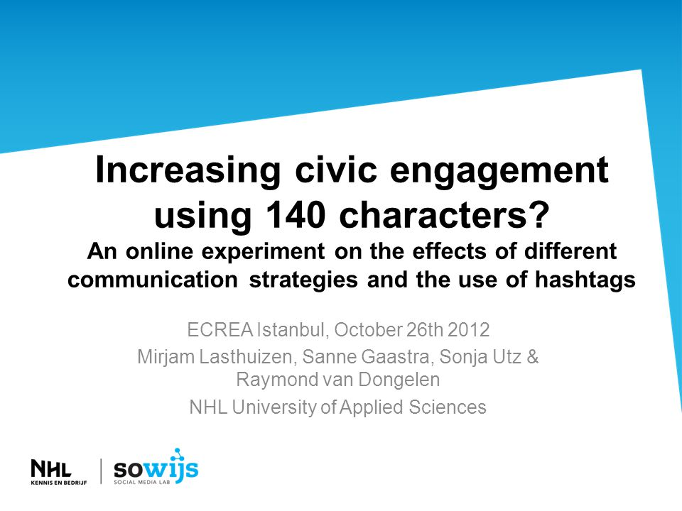 Increasing civic engagement using 140 characters.