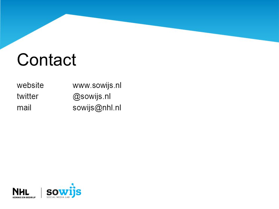 Contact websitewww.sowijs.nl twitter@sowijs.nl mailsowijs@nhl.nl