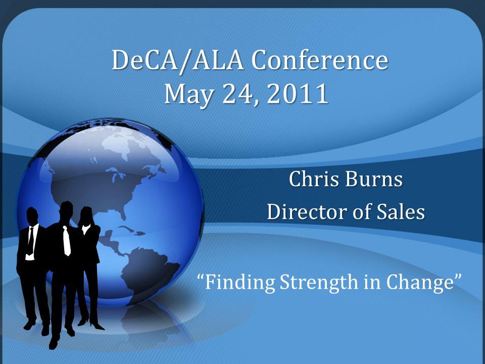 Chris Burns Director of Sales Finding Strength in Change