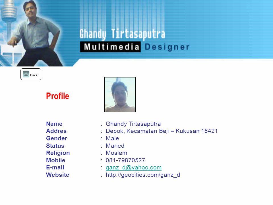 University Of Indonesia : Banking Diploma ( 1993 – 1994 ) UNIA : Banking Diploma (1995 – 1999 ) Formal : Graphics Design : Photoshop, Illustrator, Corel Draw, Freehand, Ulead Photo Impact.