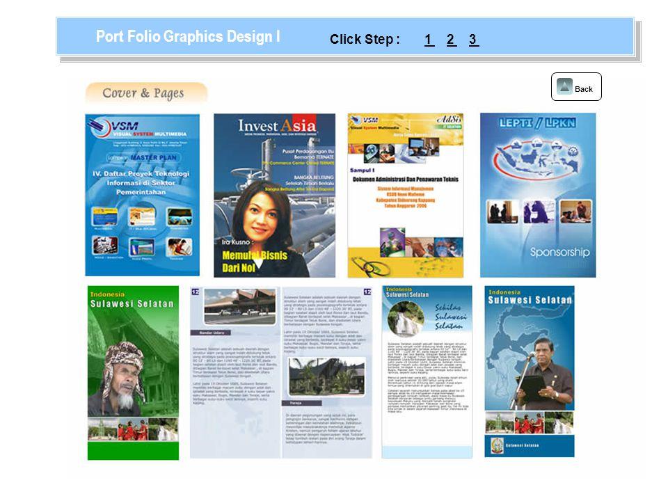 Back Port Folio Graphics Design II 123Click Step :
