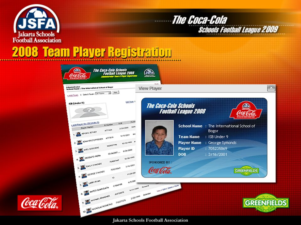 2008 Team Player Registration