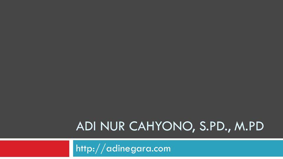 ADI NUR CAHYONO, S.PD., M.PD http://adinegara.com
