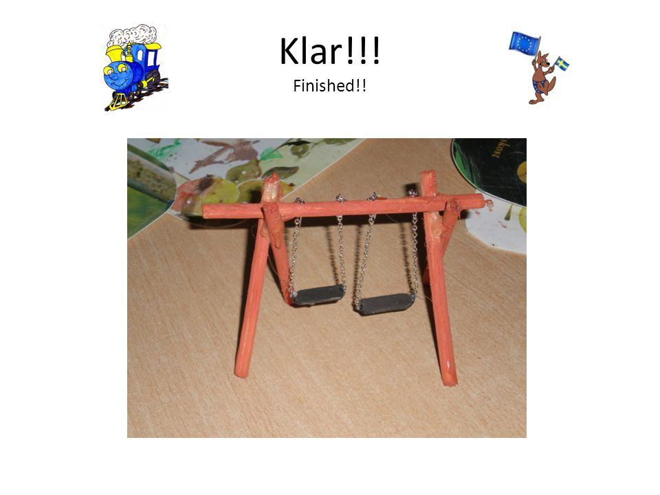 Klar!!! Finished!!