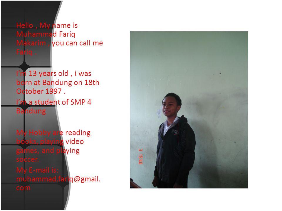 Hello, my name is Raden Bagus Huda Muhammad Adani, you can call me huda.