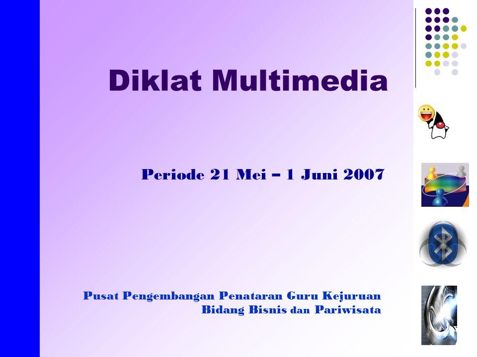 created by E.Nirmala Diklat Multimedia Periode 21 Mei – 1 Juni 2007 Pusat Pengembangan Penataran Guru Kejuruan Bidang Bisnis dan Pariwisata