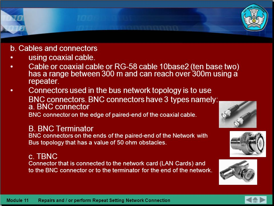 1.Preparation Repairs Network Connectivity on the Bus topology Preparation of the improvement Bus network topology is: a.