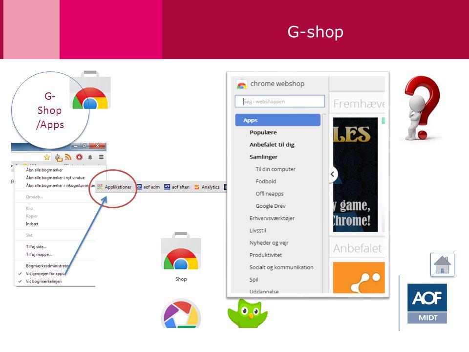 G-shop G- Shop /Apps G- Shop /Apps