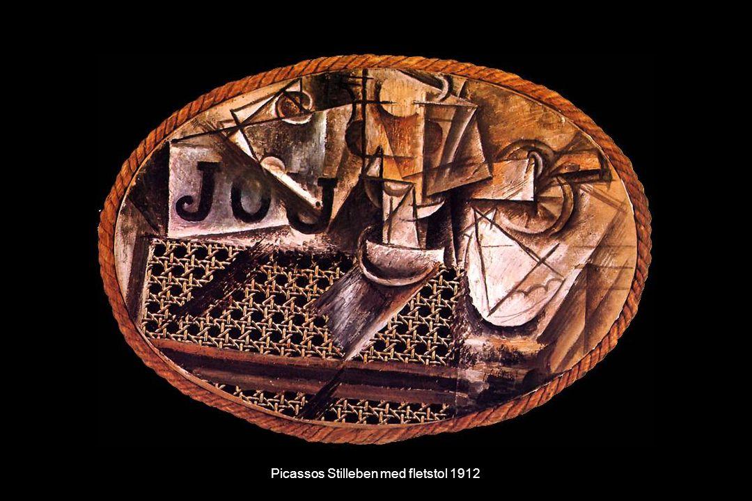 Picassos Stilleben med fletstol 1912