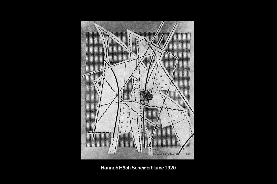 Hannah Höch Scheiderblume 1920