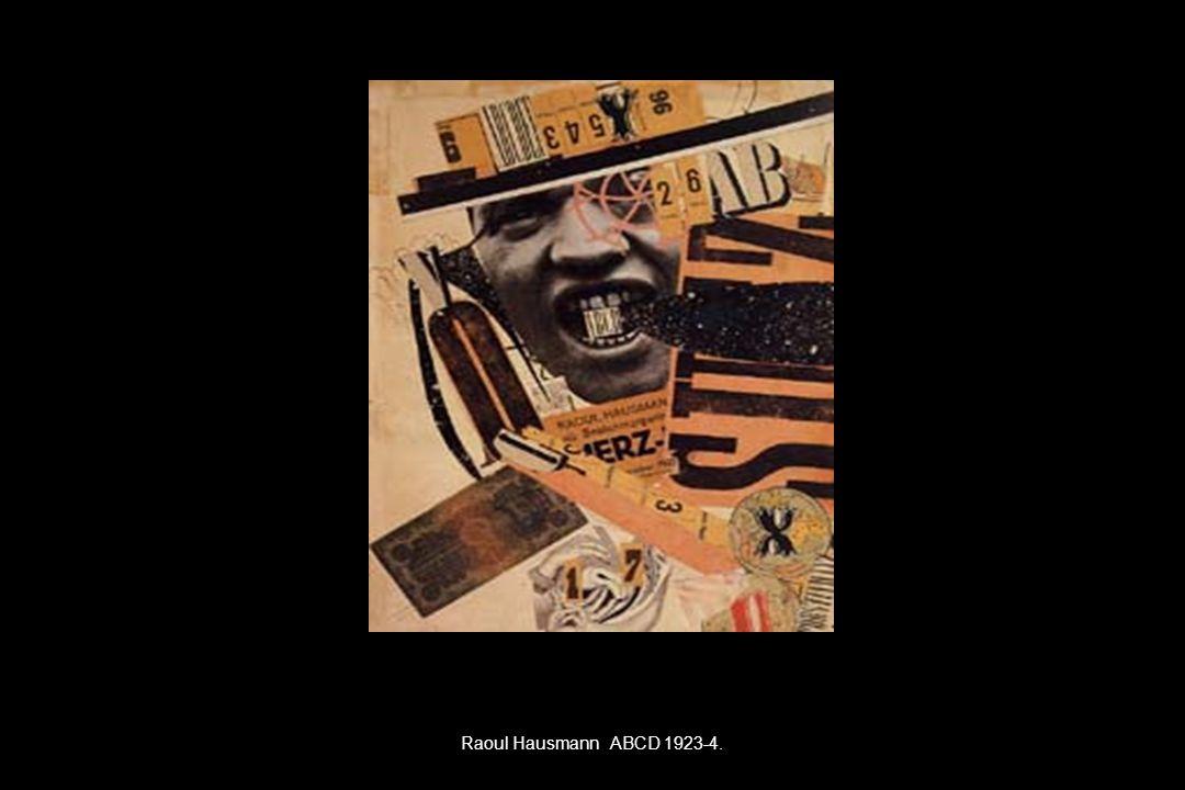 Raoul Hausmann ABCD 1923-4.